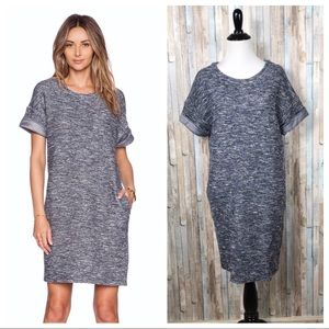 Vince XS Rolled Sleeve Boucle Knit Shift Dress